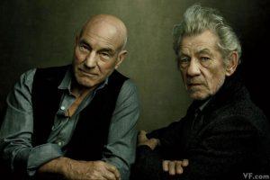 Patrick Stewart e Ian McKellen foto di Annie Leibovitz