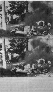 White Burning Car Twice