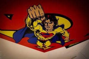 Steve Kaufman Comic Book Painting