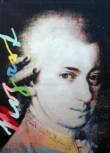 Steve Kaufman Mozart Icons of Music Grado