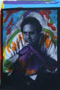 Steve Kaufman - autoritratto (particolare)