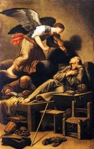 14. Carlo Saraceni, 'Estasi di San Francesco' ( 1619-1620 _ Venezia, Sacrestia della Chiesa del Redentore)
