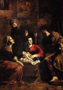 15. Pietro Bernardi, 'Sacra Famiglia con i santi Gioacchino e Anna' ( Secondo decennio del Seicento _ Verona, Museo di Castelvecchio)