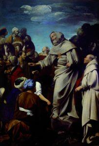 17. Carlo Saraceni, 'Predica di Raimondo Nonnato' ( 1612-1614 _ Roma, Casa Generalizia dei Padri Mercedari)