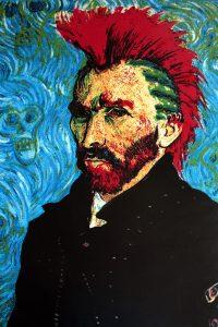 Steve Kaufman - van Gogh with Mohawk - 2007