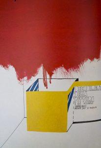 Decadimento della pittura e suo possibile recupero mediante box di raccolta, 1967 copia