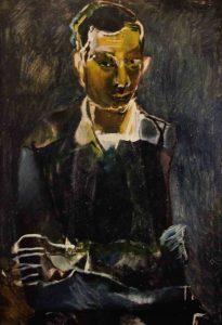 Ritratto Enzo Cogno fatto da Miela Reina 1961.