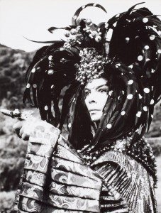 Leonor Fini at the monastery of Nonza in Corsica by Eddy Brofferio,1967