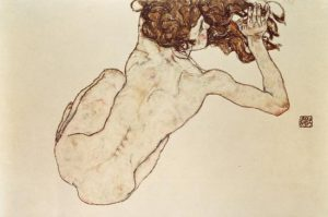 Egon Schiele - nudo di schiena