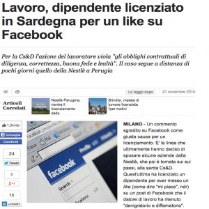 Facebook - licenziamenti