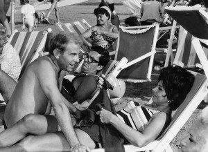 Enrico Maria Salerno, Lelio Luttazzi e Sandra Milo. Foto G. B. Poletto