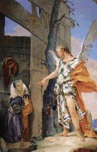 [IMMAGINE 01] G.B. Tiepolo_Sara e l'angelo_Udine_Palazzo Patriarcale_Galleria degli ospiti (1727-29)