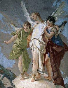 [IMMAGINE 02] G.B. Tiepolo_Abramo accoglie gli angeli nel querceto di Mamre_Udine_Palazzo Patriarcale_Galleria degli ospiti (1727-29)_particolare