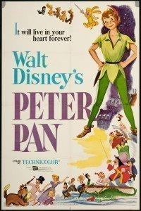La locandina originale de 'Le avventure di Peter Pan' (Disney, 1953)