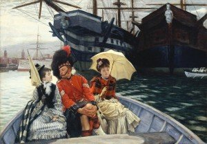 Portsmouth Dockyard c.1877 by James Tissot 1836-1902