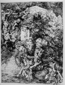 Una storia per Rembrandt puntasecca 1978 - Scarpati