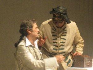 Con Massimo Dapporto ne I due gemelli veneziani di Goldoni